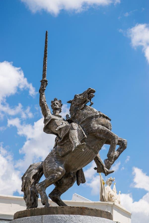Svatopluk雕象  免版税图库摄影