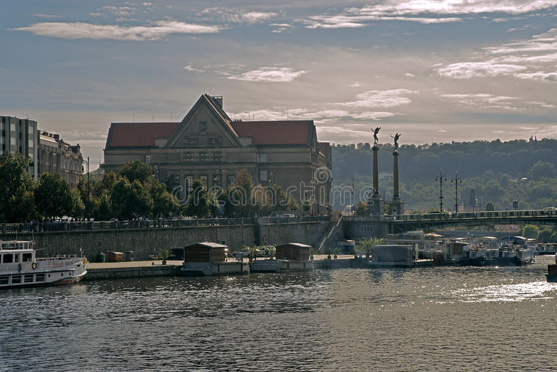 Svatopluk ÄŒech bro, Prague, Tjeckien arkivbilder