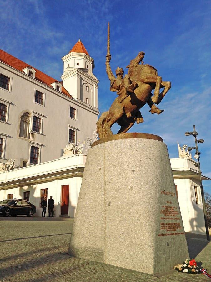 Svatopluk Statue国王 免版税库存照片