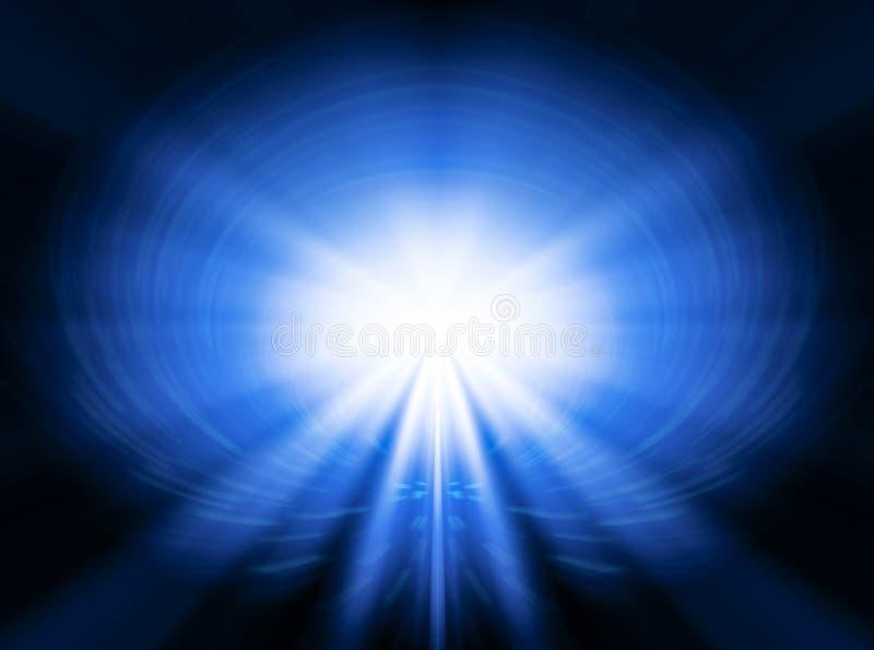 Svchenie abstrato com fluxo luminoso ilustração royalty free