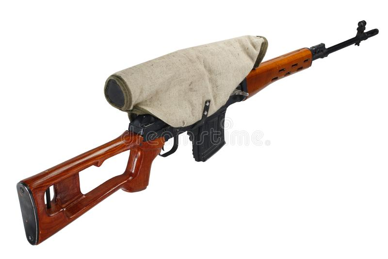 SVD-geïsoleerd sluipschuttergeweer royalty-vrije stock afbeeldingen