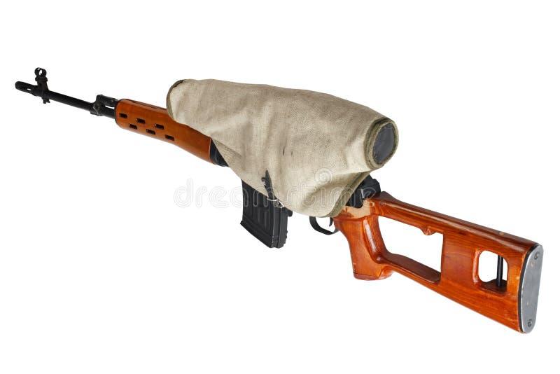 SVD-geïsoleerd sluipschuttergeweer royalty-vrije stock afbeelding