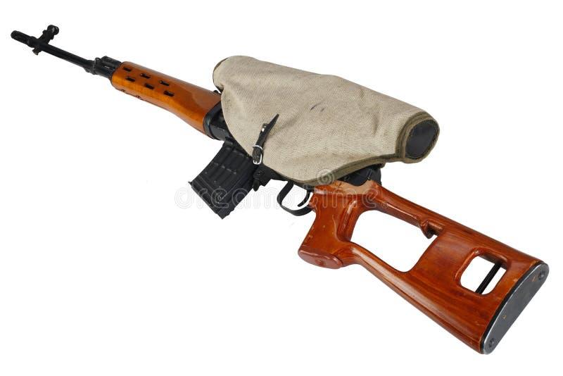SVD-geïsoleerd sluipschuttergeweer royalty-vrije stock fotografie