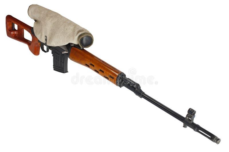 SVD-geïsoleerd sluipschuttergeweer stock afbeeldingen