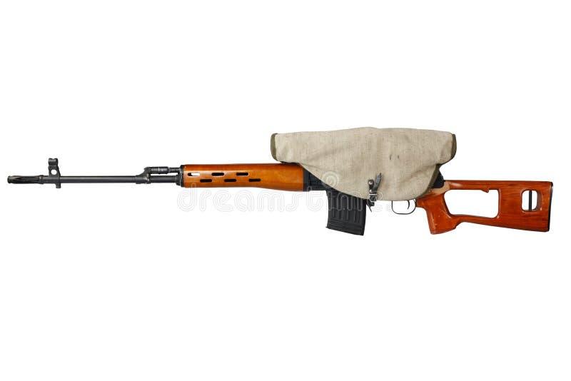 SVD-geïsoleerd sluipschuttergeweer stock foto's