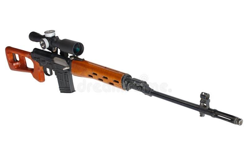 SVD-geïsoleerd sluipschuttergeweer royalty-vrije stock foto's