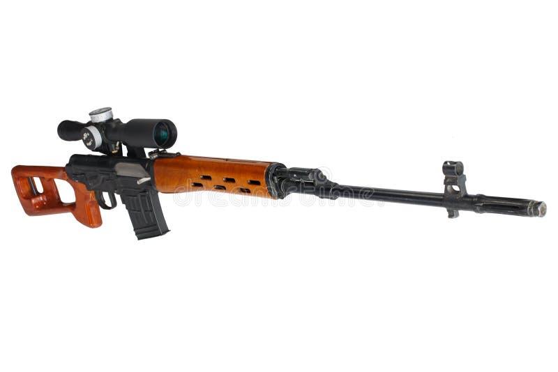 SVD-geïsoleerd sluipschuttergeweer stock fotografie
