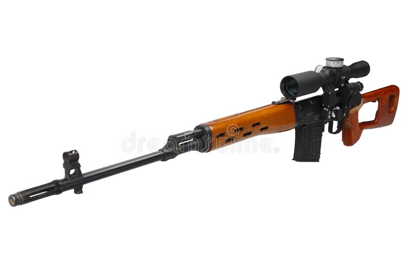 SVD sniper rifle isolated. On white background stock image