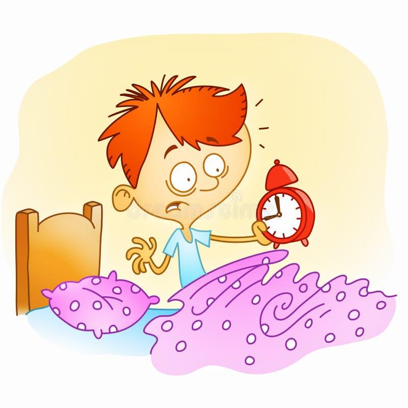 Svegli tardi illustrazione vettoriale