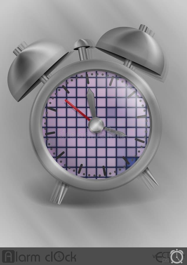 Sveglia classica di stile del metallo illustrazione vettoriale