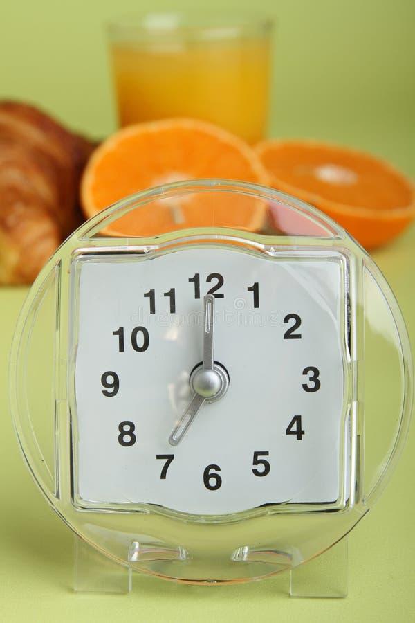 Sveglia e prima colazione immagine stock