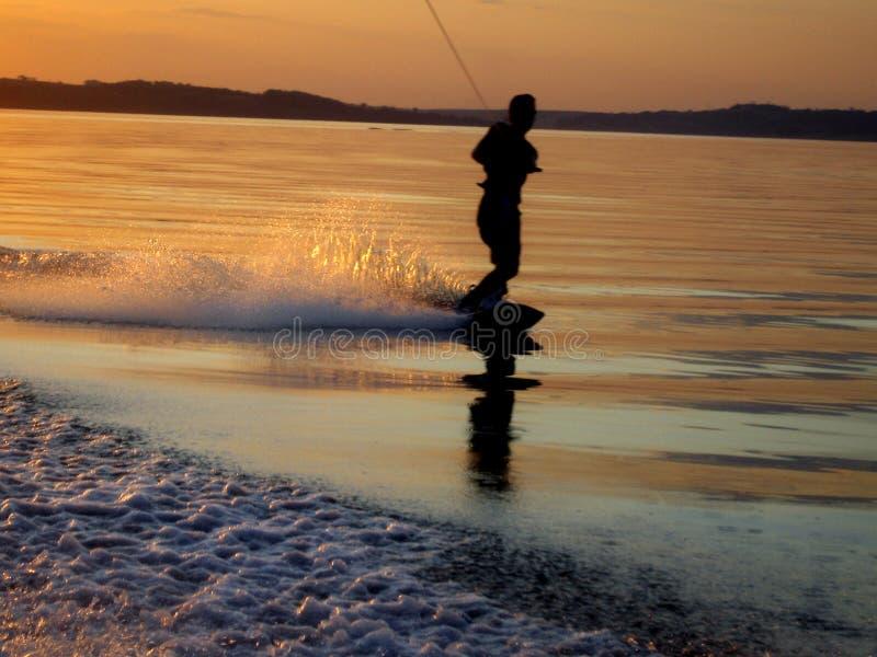 Svegliare-Scheda e tramonto fotografie stock