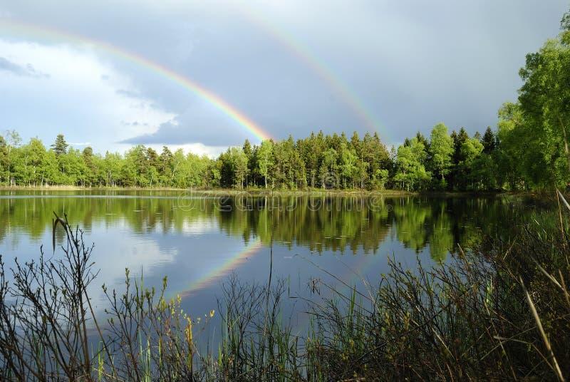 svensk för lakeligganderegn arkivfoto