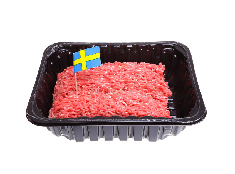 Svensk malt nötkött arkivfoton