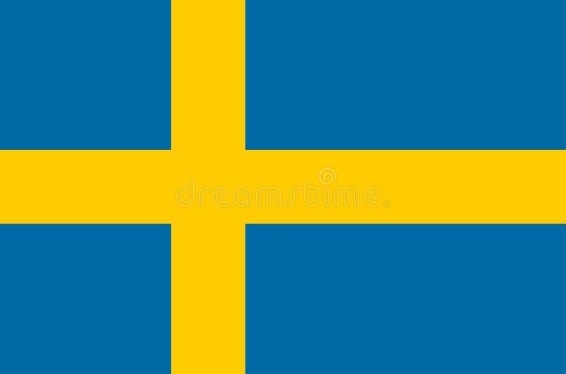 Svensk nationsflagga, officiell flagga av Sverige exakta färger vektor illustrationer