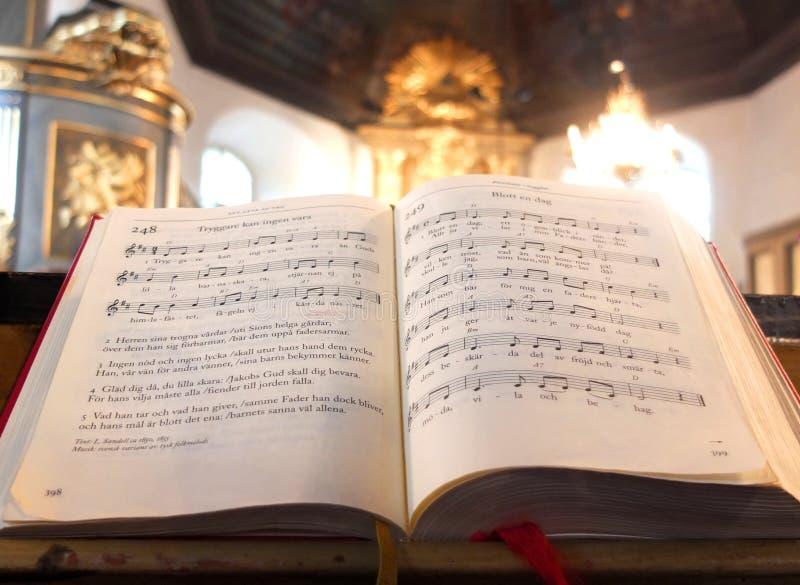 Svensk psalmsbok royaltyfri bild