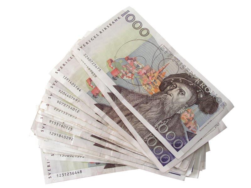 Svensk valuta - kr 1000 arkivbilder