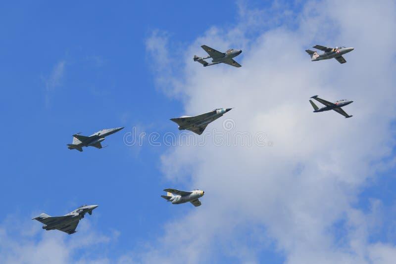 Svensk vinge för flygvapen 17 royaltyfria foton