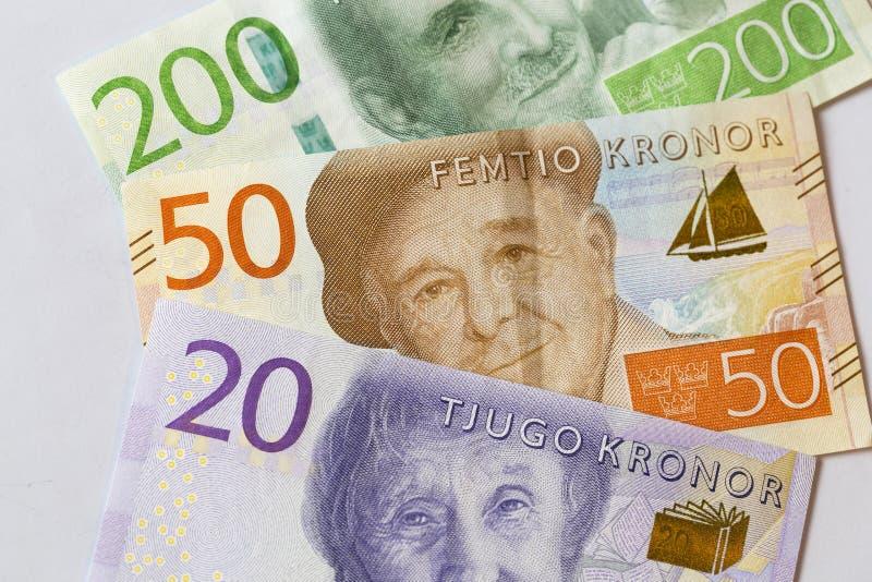 Svenskt valutaslut upp royaltyfria bilder