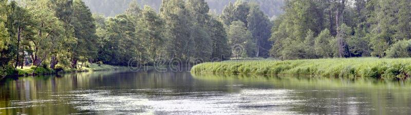 The Sventoji River near Anyksciai royalty free stock images