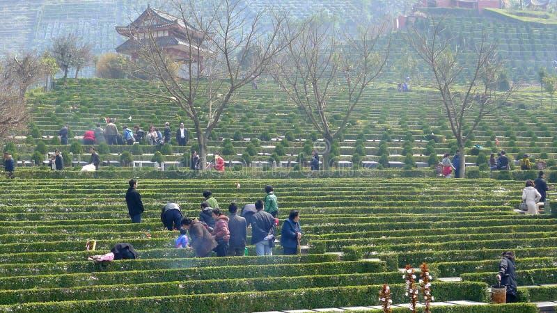 svepande tomb för kinesisk dag arkivfoto
