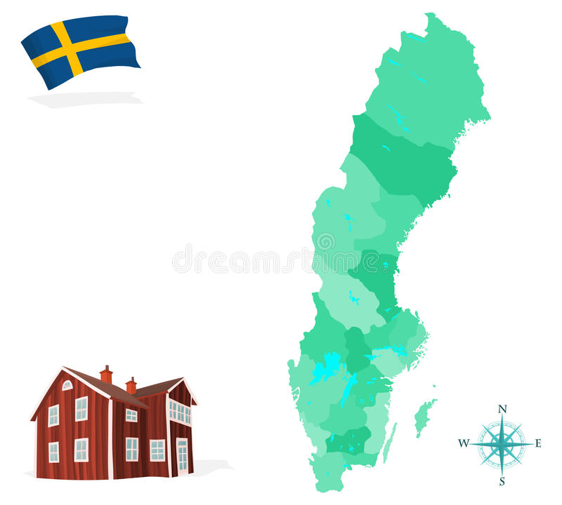 Sverige royaltyfri bild