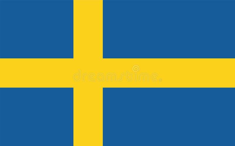 Sverige flaggavektor royaltyfri illustrationer