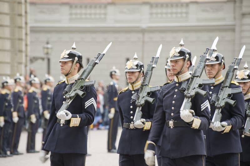 Sverige kunglig Guard arkivfoto