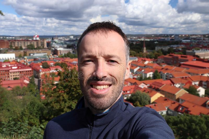 Sverige turistselfie arkivbild