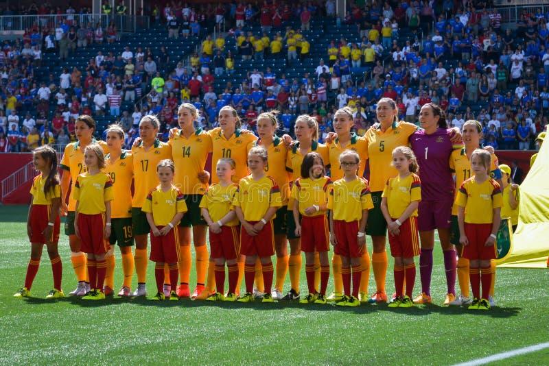 Sverige vs Nigeria landslag FIFA Women's världscup royaltyfri fotografi