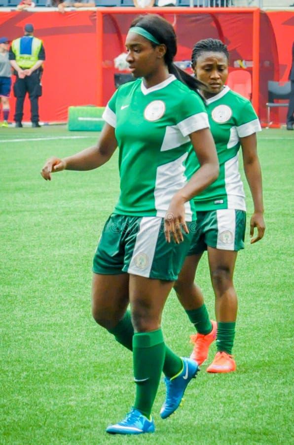 Sverige vs Nigeria landslag FIFA Women's världscup royaltyfria foton