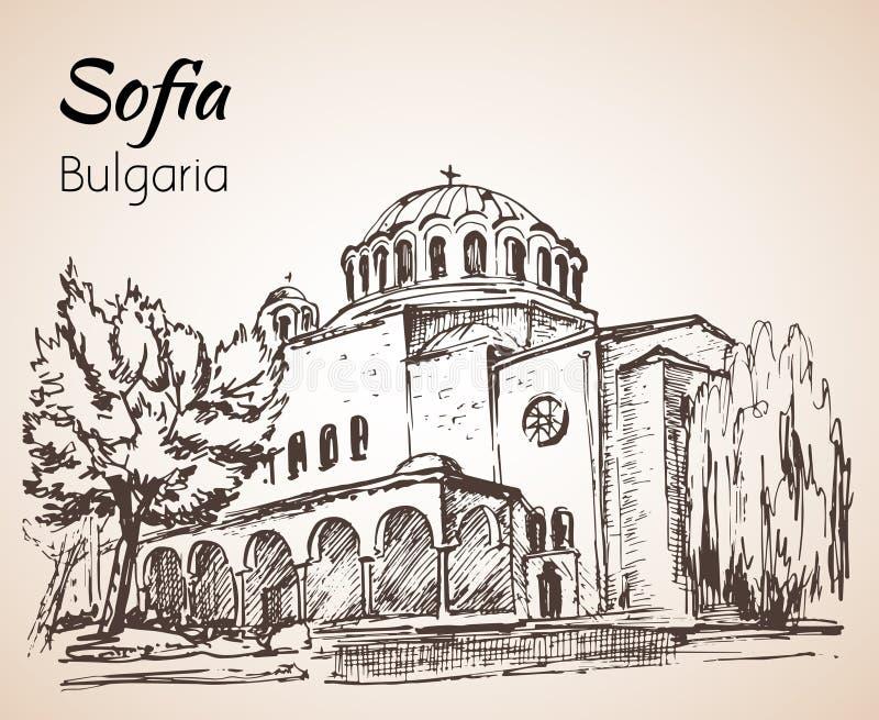 Sveta Nedelya kościół Sofia Sofia, Bułgaria nakreślenie ilustracji