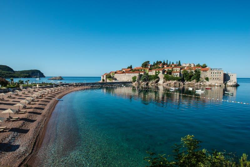 Sveti斯蒂芬海岛,布德瓦,黑山 免版税库存图片