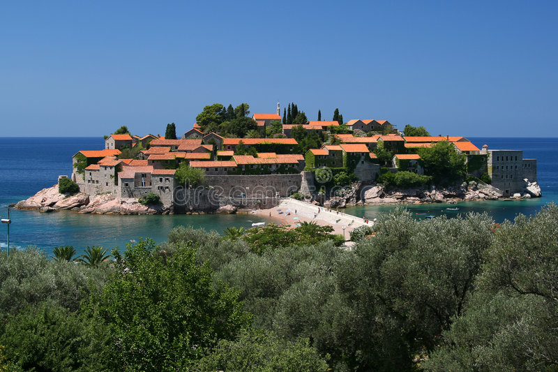 sveti του Μαυροβουνίου Stefan στοκ εικόνα με δικαίωμα ελεύθερης χρήσης