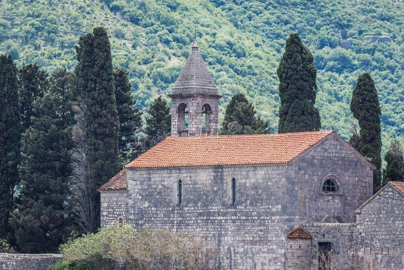 Saint George islet in Montenegro stock image