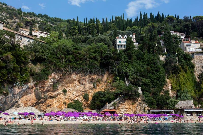 Sveti Jakov Beach dans Dubrovnik image stock