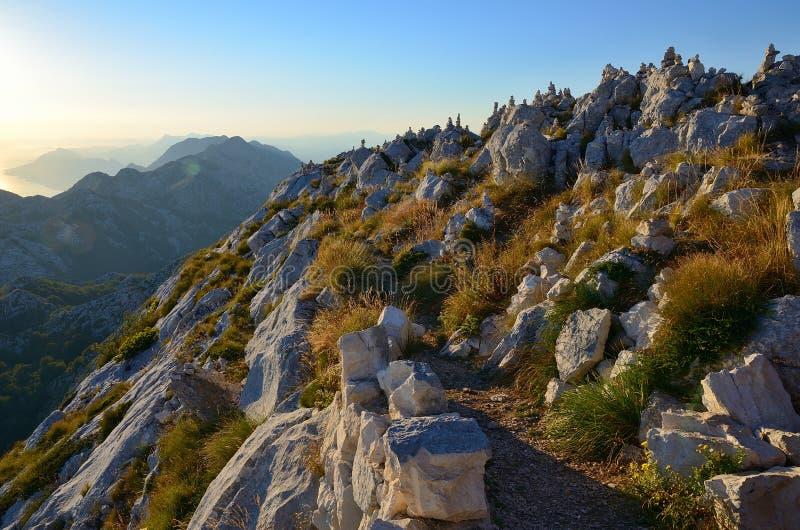 从Sveti Jure的顶端看法在Biokovo保留,克罗地亚 免版税库存照片