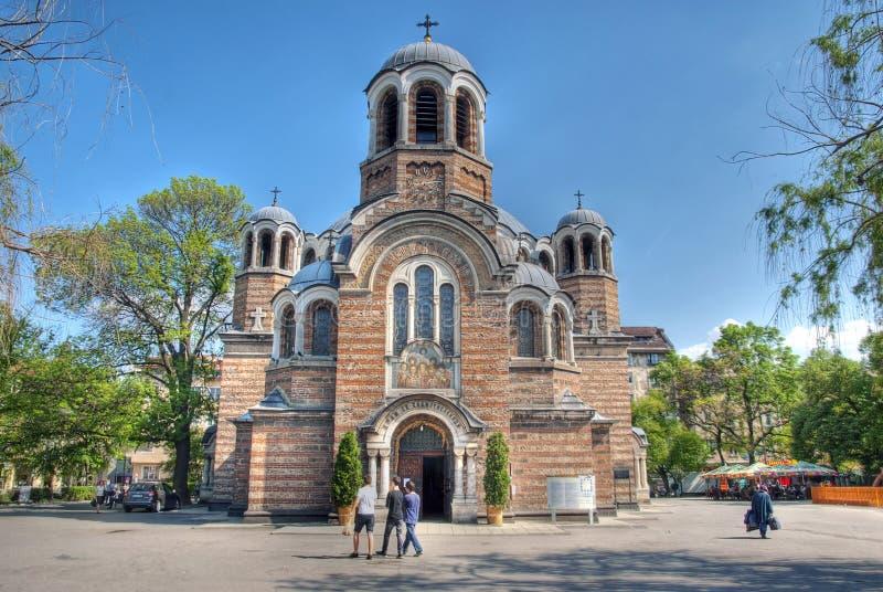 Sveti Sedmochislenitsi kyrka i Sofia, Bulgarien, HDR bild arkivfoton