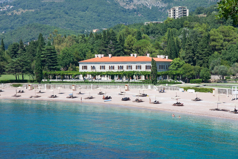 Sveti Stean pałac, Montenegro obraz stock