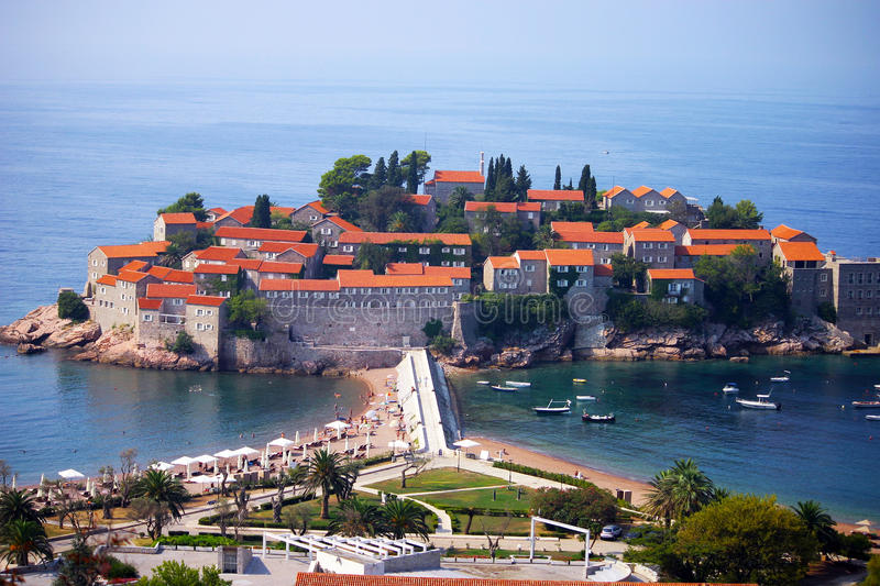 Sveti Stefan royalty free stock photos