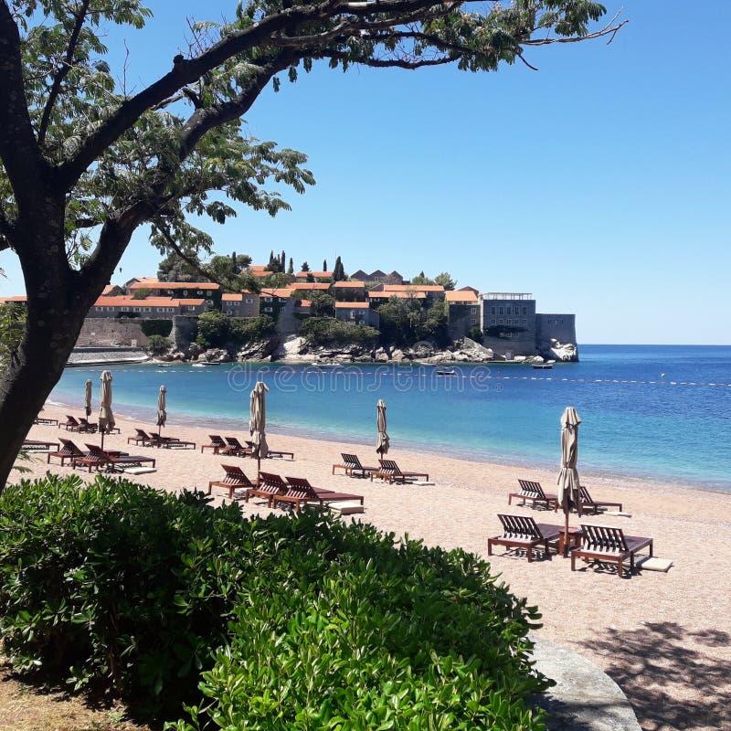 Sveti Stefan, Budva, Montenegro lizenzfreies stockbild