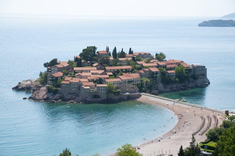 Sveti Stefan, Budva riviera, Montenegro foto de archivo