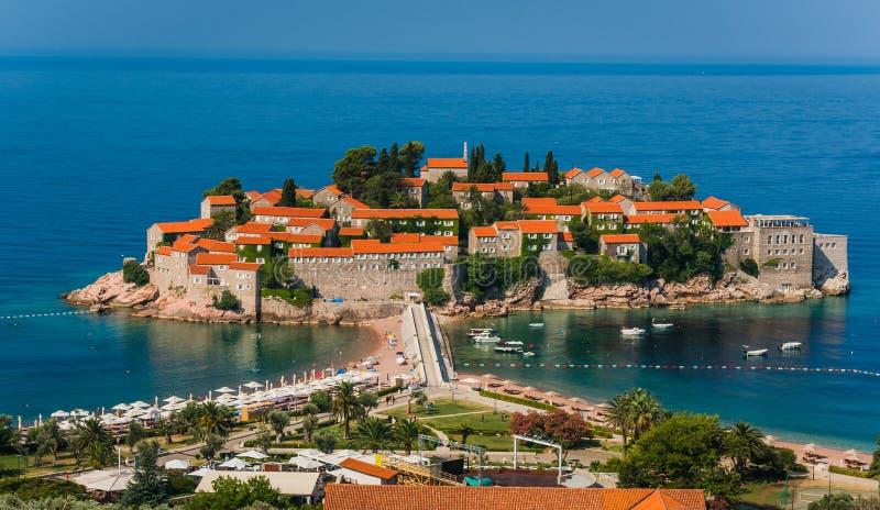 Sveti Stefan, Inselresort, Montenegro stockfotografie