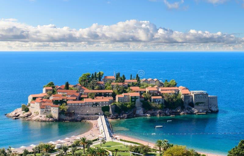 Sveti Stefan. Island in Budva, Montenegro stock photo