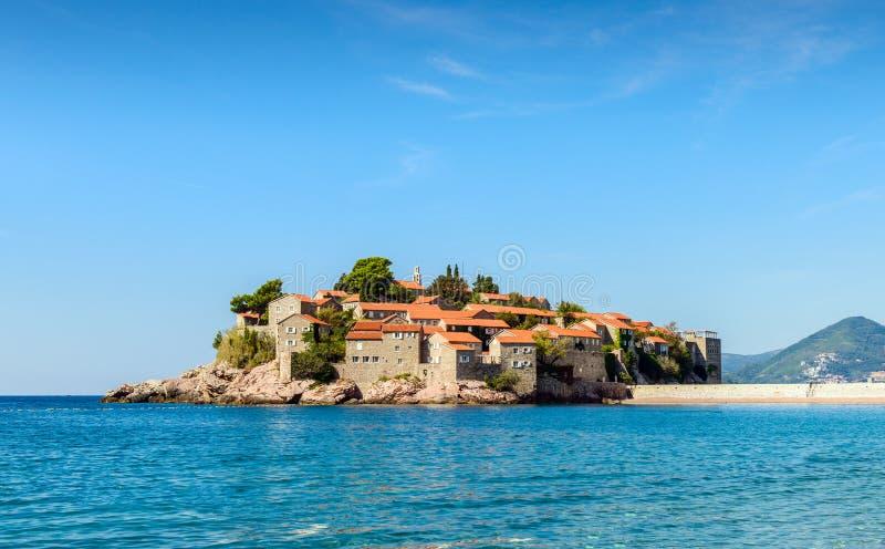 Sveti Stefan. Island in Budva, Montenegro stock image