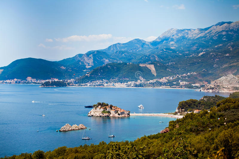 Sveti Stefan island in Montenegro royalty free stock photo