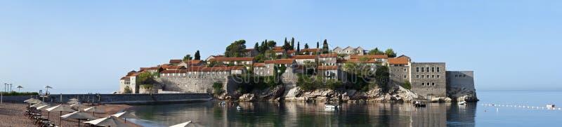 Sveti stefan island resort in montenegro stock images