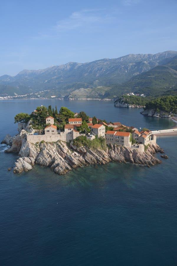 Sveti Stefan. Island resort, Montenegro stock images