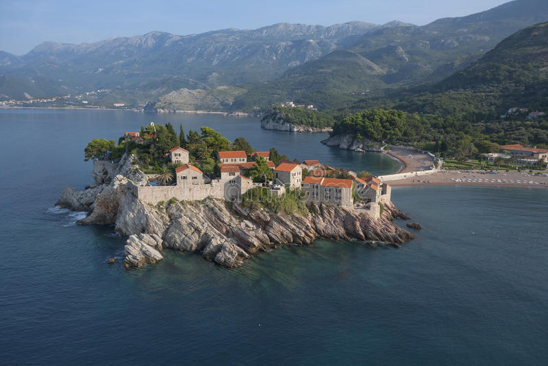 Sveti Stefan. Island resort, Montenegro royalty free stock images