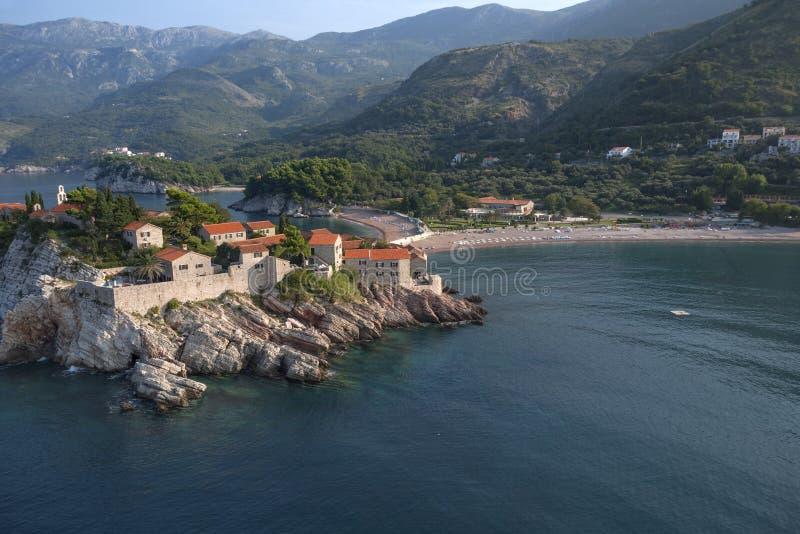 Sveti Stefan. Island resort, Montenegro stock photo